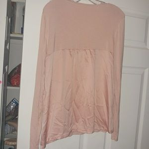 {Gillian&o'malley} blush long sleeve sleep shirt